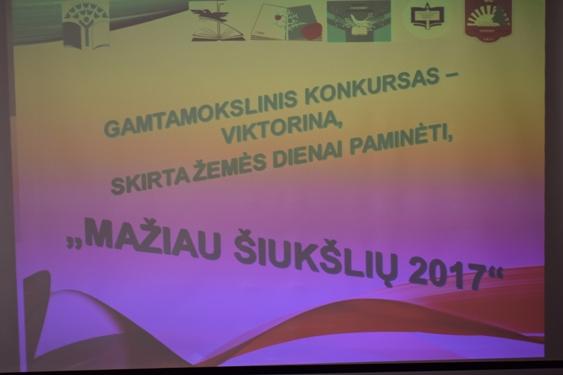 """Konkursas – viktorina """"Mažiau šiukšlių 2017"""" Alytaus Vidzgirio pagrindinėje mokykloje"""