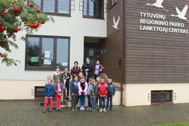 Alksniupių pagrindinės mokyklos mokiniai Tytuvėnų regioniniame parke