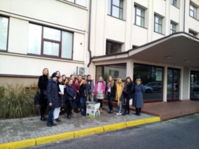 Kazlų Rūdos Prano Dovydaičio mokyklos atstovai Kauno miškų ir aplinkos inžinerijos kolegijoje