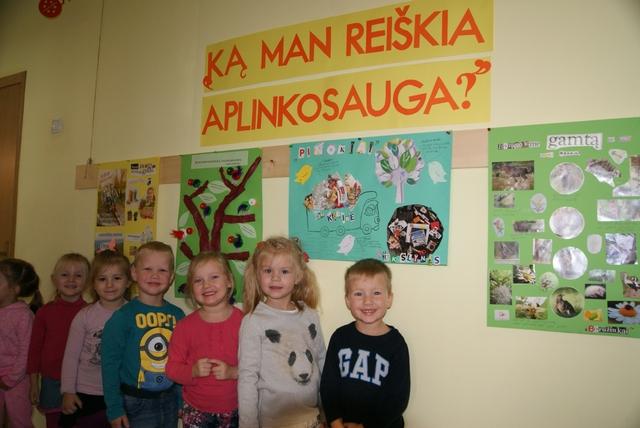 """Gamtosauginių mokyklų veiksmo dienos Mažeikių lopšelyje – darželyje """"Eglutė"""""""