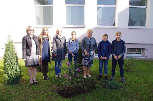 """Akcija """"Pasodink medį savo mokyklai"""" Kazlų Rūdos pagrindinėje mokykloje"""