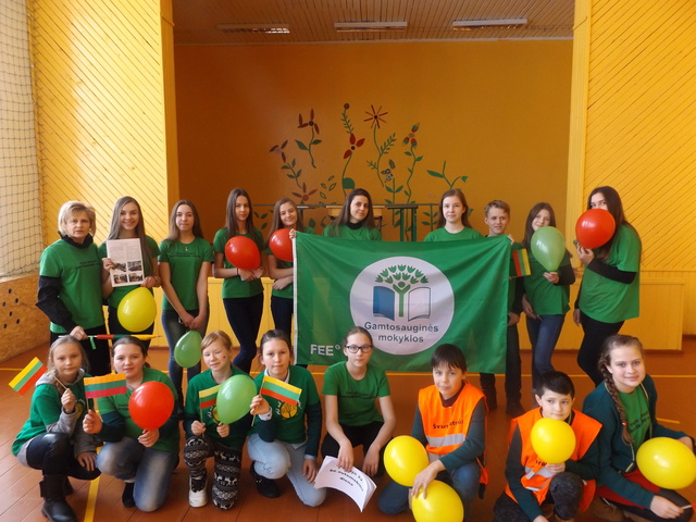 Žaliosios vėliavos kelionė po Skuodo rajono mokyklas