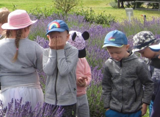 """Ukmergės darželio """"Eglutė"""" vaikai levandų ūkyje"""